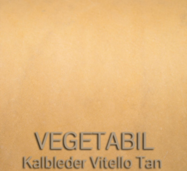 Vegetabil – Kalbleder Vitello Tan