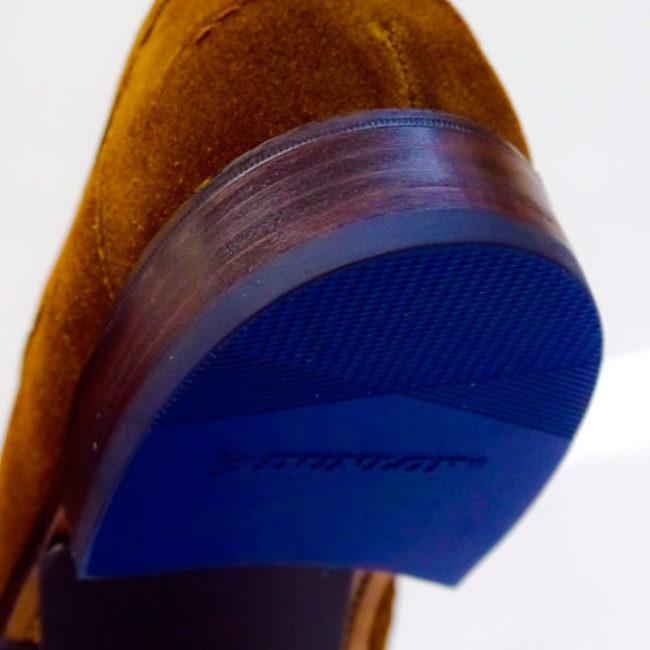 Blaue Absätze Dunlop Schuhreparatur
