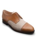 MARIO-Derby-Halfbrouge-Canvas - Maßgefertigte Schuhe in Oldenburg